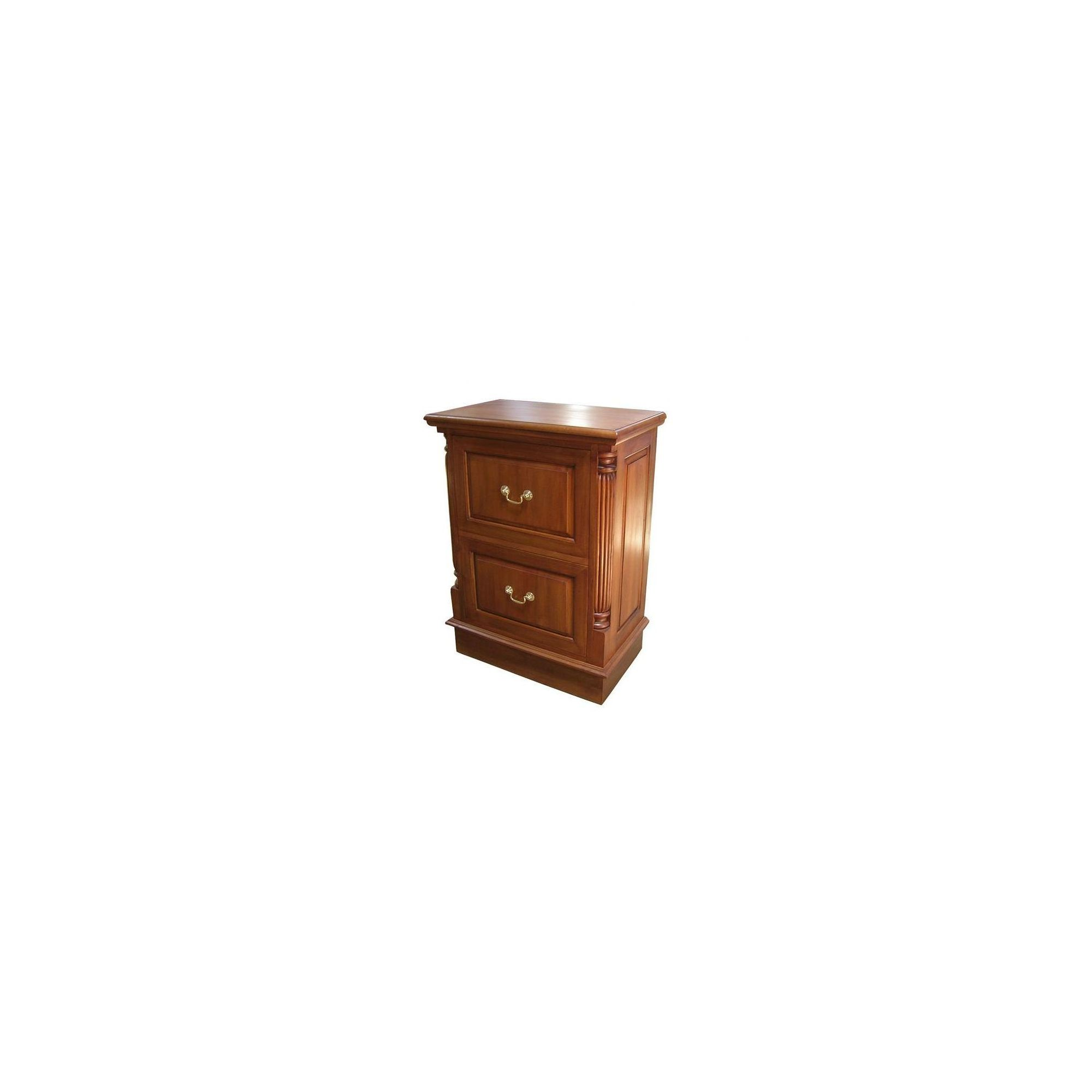 Lock stock and barrel Mahogany 2 Drawer Filing Cabinet with Brass Handles in Mahogany at Tescos Direct