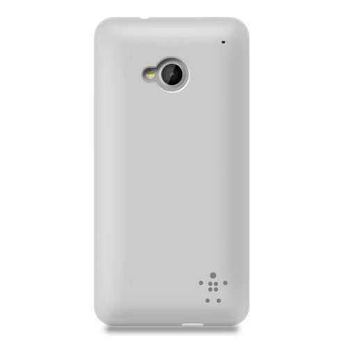 Belkin TPU Grip Sheer Case for New HTC ONE in Matte Grey