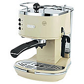DeLonghi Vintage Icona Pump Espresso Coffee Machine - Beige