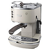DeLonghi Vintage Icona ECOV311.BG Pump Espresso Coffee Machine, Beige
