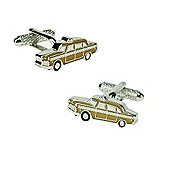 Yellow Cab Novelty Themed Cufflinks