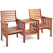 VonHaus Jack and Jill Love Seat Companion Garden Bench Set