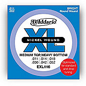 D'Addario EXL116 Electric Guitar Strings - Med/Heavy
