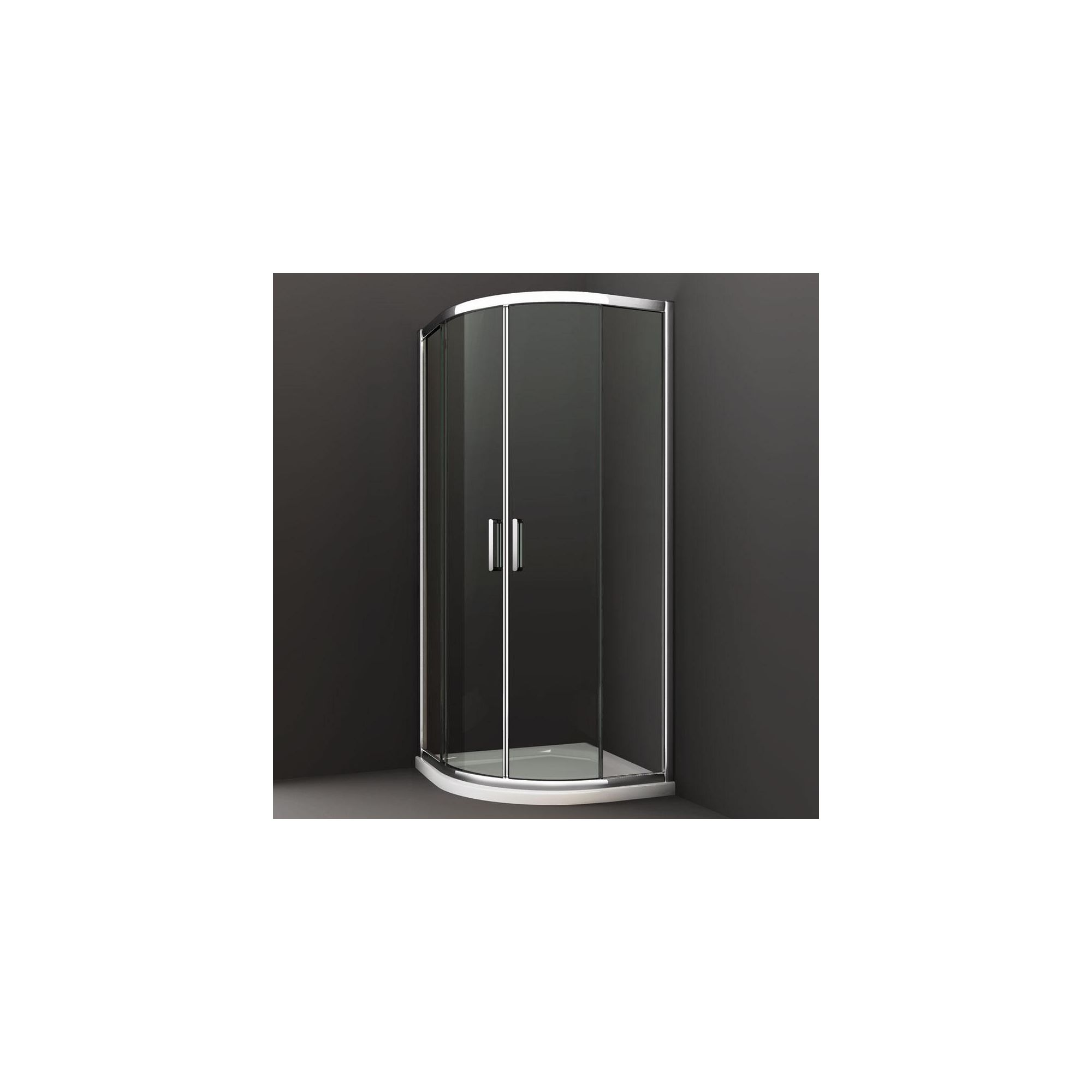 Merlyn Series 8 Double Quadrant Shower Door, 800mm x 800mm, Chrome Frame, 8mm Glass at Tesco Direct