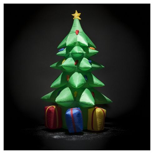 Festive Inflatable Christmas Tree With Decorative Presents, 7ft