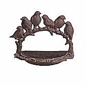 Cast Iron Wall Mountable Garden Bird Feeder with Arched Bird Design