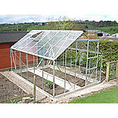 Simplicity SUN 8 x12 Plain Aluminium Greenhouse Starter Package Toughened Glass