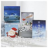 Tesco Bumper Mixed Christmas Cards, 30 Pack