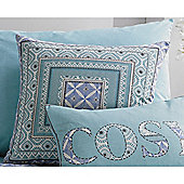 Dreams n Drapes Kalisha Cushion Cover - Blue 43x43cm
