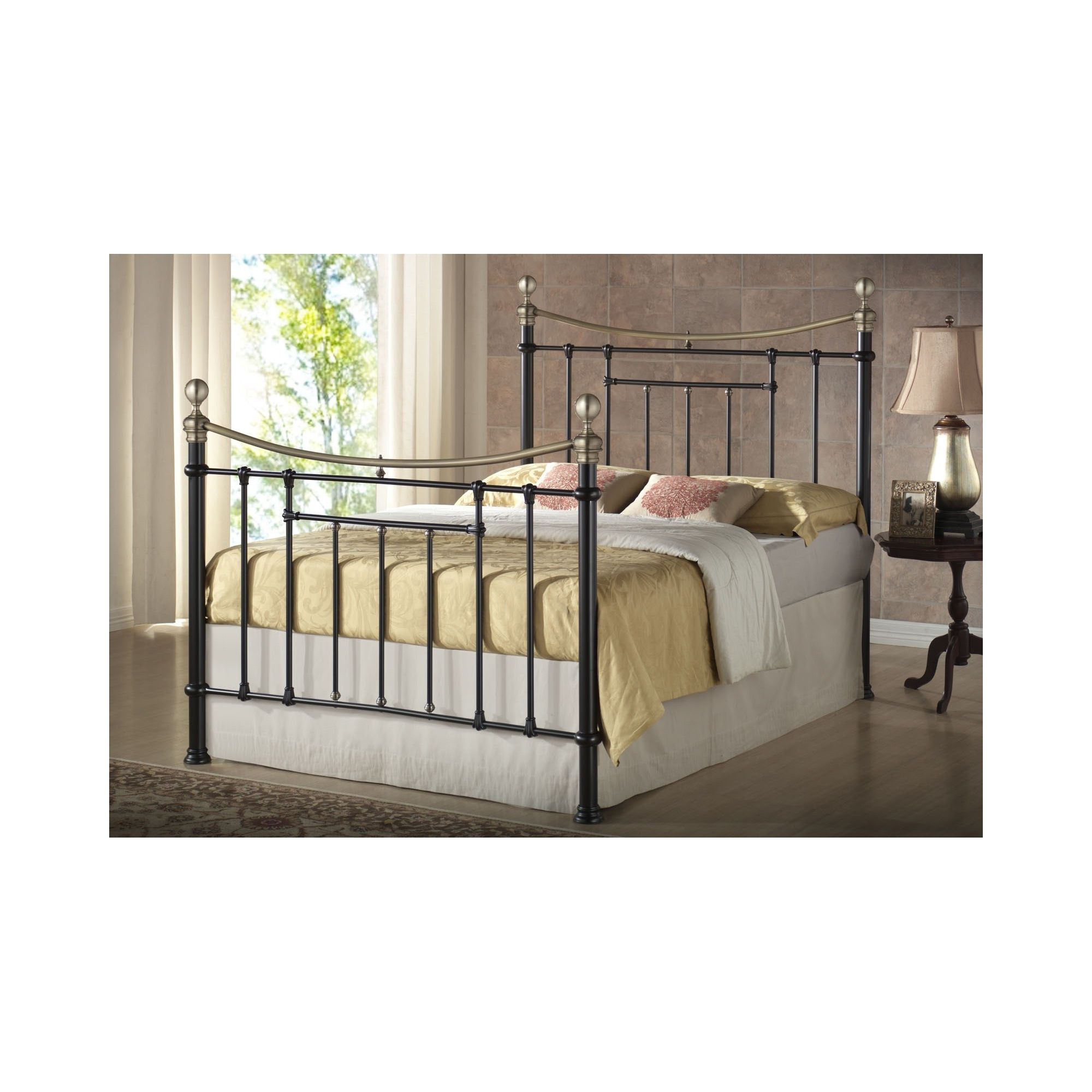 Birlea Bronte Metal Bed Frame - King - Black at Tescos Direct
