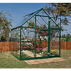 Palram Harmony 6x6 - Green Greenhouse - Polycarbonate and Aluminium Frame