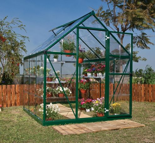 Palram Harmony 6x6 - Green Greenhouse - Polycarbonate and Aluminium Frame