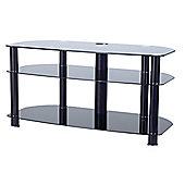 All Black Glass Plasma / LCD Stand