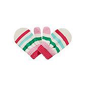 Mothercare Aqua Stripe Magic Mittens Size 0-0 (0-6 mnths)