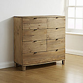 Elements Olivia Bow Curved 6 Over 1 Drawer Chest