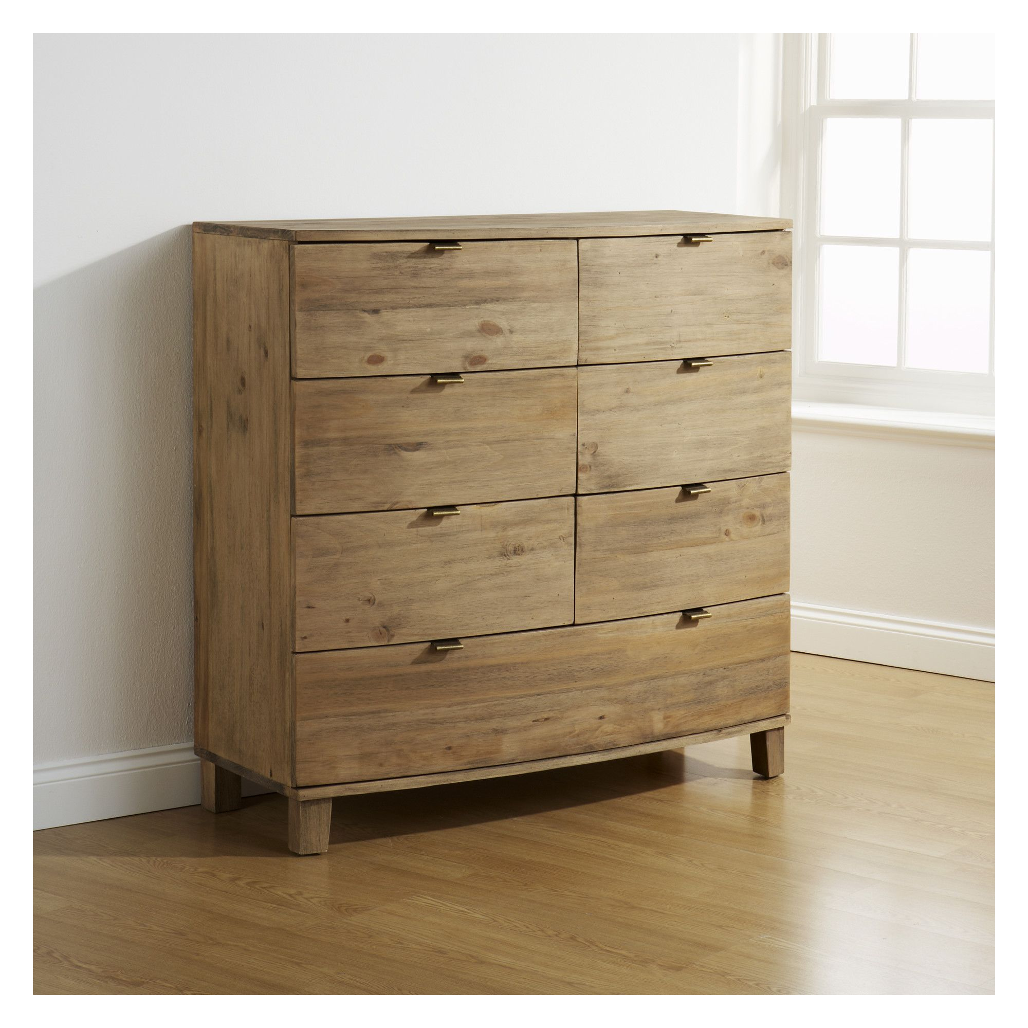 Elements Bow Curved 6 Over 1 Wide Chest at Tesco Direct