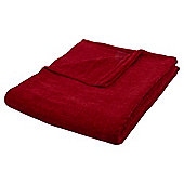 Red Chenille Throw