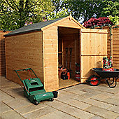 8ft x 6ft Tongue & Groove Single Door Apex Windowless Shed