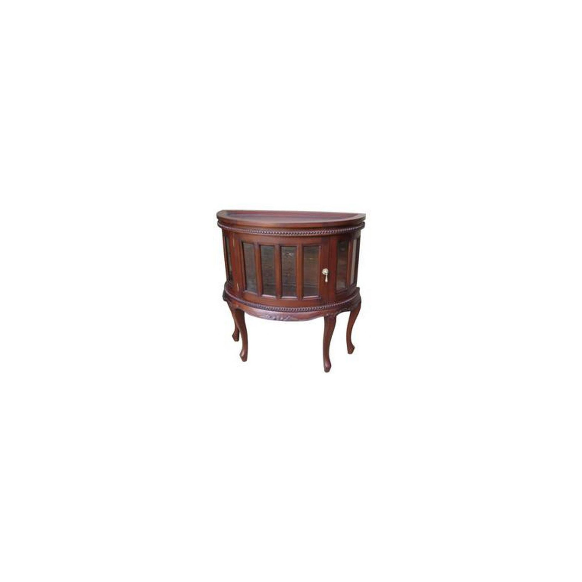 Lock stock and barrel Mahogany Demi Lune Tea Table in Mahogany at Tesco Direct