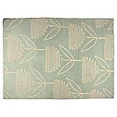 Tesco Opal Leaf Rug 80X150, Mint