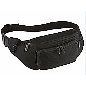 Quadra 2L Adjustable Waist Belt Bag Black