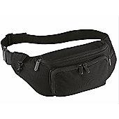 Quadra 2L Adjustable Waist Belt Bag Black
