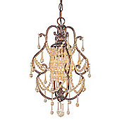 Savoy House Mini-Chandelier in New tortoise Shell with Silver