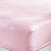 Single Cot Bed Terry Fitted Sheet (Pink)