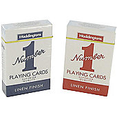 2 New Decks of Waddington No1 Classic Playing cards Red & Blue