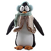 Medium Soft Felt Winter Penguin Christmas Ornament with Earmuffs