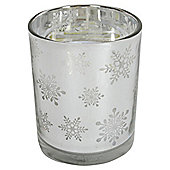 Snowflake Design Candle in a Jar