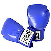 Everlast Boxing Leather Sugar Sparring Gloves - Blue