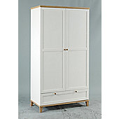 Home Zone Chicago Two Door Wardrobe with Drawer in White