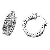 Jewelco London Rhodium-Coated Sterling Silver Hoop Earrings