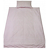 Saplings Cot Bed Quilt & Pillowcase Set - Pink Gingham