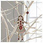 Scandi Wood Fairy Hanging Decoration