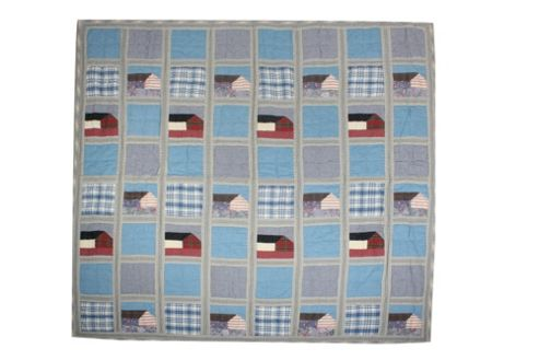 Woven Magic Denim Crib Throw