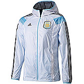 2014-15 Argentina Adidas Anthem Track Top (White) - White