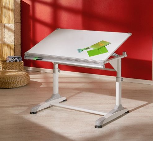 Aspect Design Christian Height Adjustable Home Office Desk in White