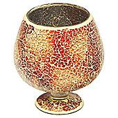 Home Essence Glass Mosaic Small Hurricane - Orange