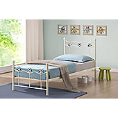 Time Living Chiswick Football Metal Bed Frame - Ivory