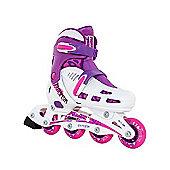 SFR Cyclone Adjustable Inline Skates White/Pink Size 12-2