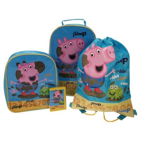 Peppa Pig George 4-Piece Kids' Luggage Set