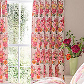 Catherine Lansfield Izzy Pink Floral 66x72 Curtains