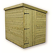 6ft x 4ft Windowless Pressure Treated 6 x 4 T&G Pent Shed + Side Door