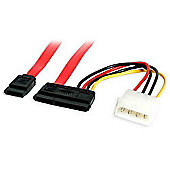 StarTech 10 inch SATA Serial ATA Data and Power Combo Cable