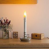 Battery LED Chamber Candle with Silver Base