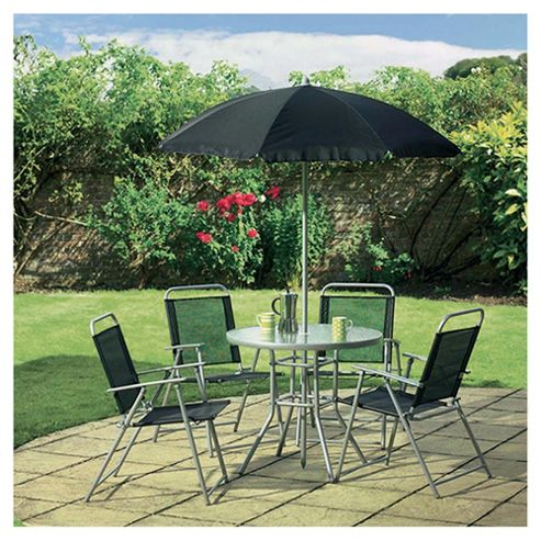 Tesco Hawaii Metal/Waterproof Woven Textile Garden Set