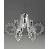 Emporium Lucelab Ricciolino 1 Light Pendant - Opaline White - Big