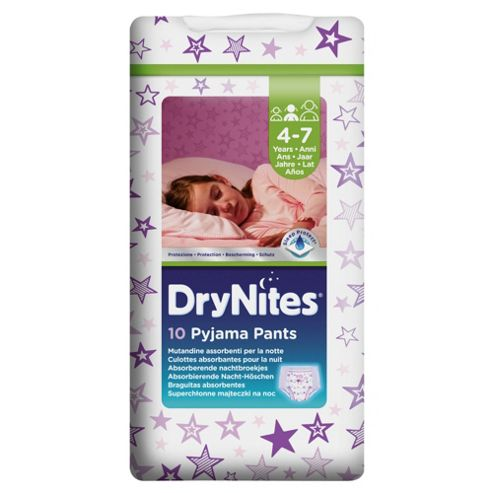 Huggies Dry Nites Pyjama Pants X10 Girl 4-7 Years
